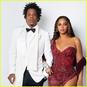 Beyonce Dazzles in Red Dress for 'Great Gatsby' Themed Party with Jay-Z