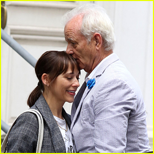 Bill Murray Kisses On-Screen Daughter Rashida Jones While Filming 'On the Rocks'