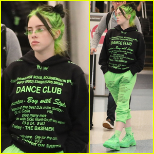 Billie Eilish Shows Off Neon Green Hair At Lax Billie Eilish