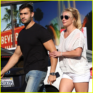 Britney Spears Holds Hands with Boyfriend Sam Asghari After an Early Dinner