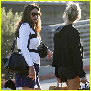 Caitlyn Jenner Wears Mini Skirt for Dinner With Sophia Hutchins