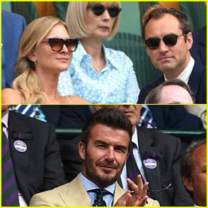 Celebrities Watch Amazing Men's Semifinals Matches at Wimbledon