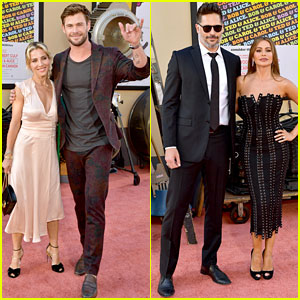Chris Hemsworth & Sofia Vergara Bring Their Spouses to 'Once Upon a Time in Hollywood' Premiere