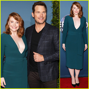 Chris Pratt & Bryce Dallas Howard Celebrate 'Jurassic World - The Ride' Grand Opening Celebration!