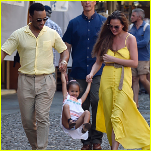 These Photos of John Legend & Chrissy Teigen in Italy with Luna Are So, So Cute!