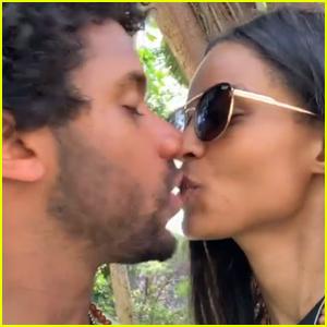 Ciara & Russell Wilson Share Sweet Kiss on Third Wedding Anniversary!
