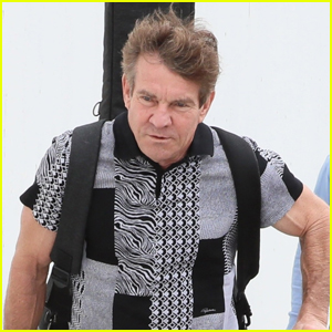Dennis Quaid Catches a Flight Out of LAX Airport