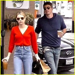 Emma Roberts & Garrett Hedlund Grab Lunch Together in Los Feliz
