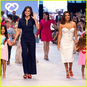 Eva Longoria & Lana Parrilla Walk the Runway With Adorable Kids in Spain!