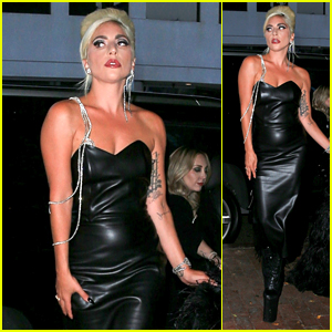 Lady Gaga Looks Stunning While Arriving at Her Haus Laboratories Party!