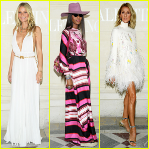 Gwyneth Paltrow, Naomi Campbell & Celine Dion Get Glam for Valentino Paris Show!