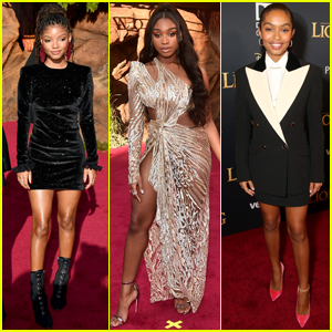 Halle Bailey, Normani, & Yara Shahidi Step Out for 'The Lion King' Premiere