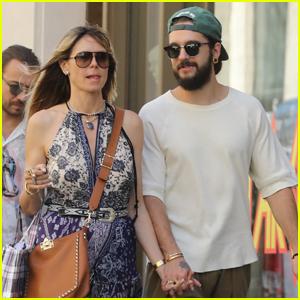 Heidi Klum & Fiance Tom Kaulitz Hold Hands in Paris
