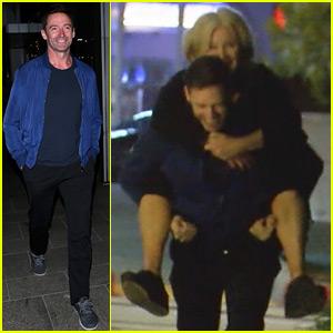 Hugh Jackman Gives Wife Deborra-Lee Furness a Playful Piggyback Ride During Night Out!