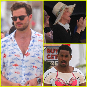 Jamie Dornan Films New Movie with Kristen Wiig & Damon Wayans Jr in Cancun!