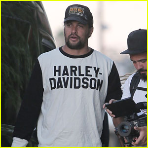 Jason Momoa Attends a Harley-Davidson Dealership Event