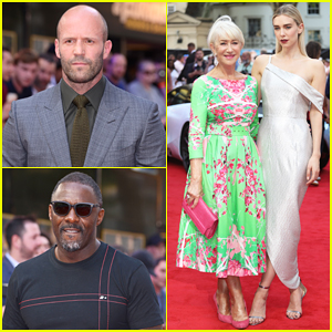 Jason Statham & Idris Elba Joined By Helen Mirren at 'Hobbs & Shaw' London Premiere!