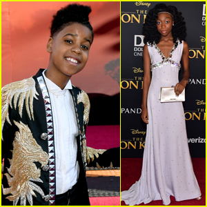 JD McCrary & Shahadi Wright Joseph Arrive in Style for 'The Lion King' Premiere!