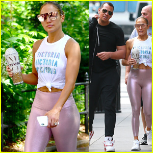 Jennifer Lopez & Alex Rodriguez Couple Up For Gym Date in New York City