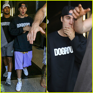 Justin Bieber Gets Accidentally Hit In The Head While Being Escorted Out Of His Gym