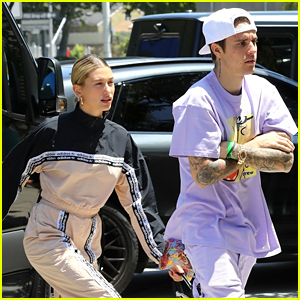 Justin Bieber & Wife Hailey Get Lunch After Saturday Morning Church Service