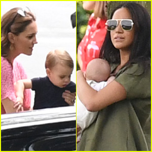 Kate Middleton & Meghan Markle Bring Prince Louis, Prince George & Baby Archie to Polo Match!