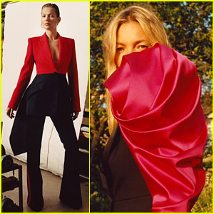 Kate Moss Sports Stylish Suits for Alexander McQueen's New Campaign