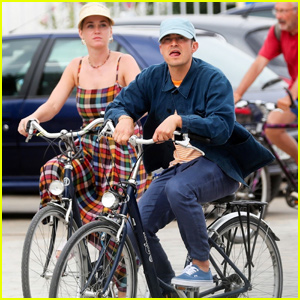 Katy Perry & Orlando Bloom Couple Up For Bike Ride in France