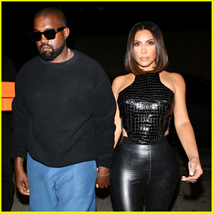 Kim Kardashian & Kanye West Head to a Dinner Party at Craig's