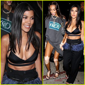 Kourtney Kardashian Holds Hands with Winnie Harlow During Night Out Together!