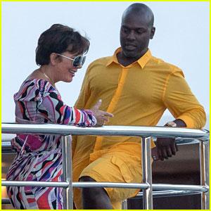 Kris Jenner & Corey Gamble Get Colorful on Saint-Tropez Yacht