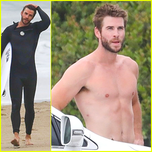 Liam Hemsworth Goes Shirtless After a July 4th Surf Session!