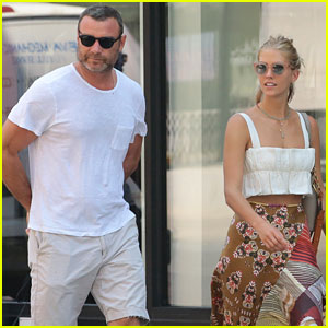 Liev Schreiber & Girlfriend Taylor Neisen Walk Their Dog ...