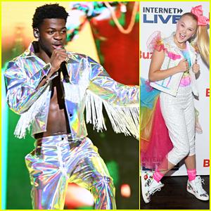 Lil Nas X & JoJo Siwa Hit The Stage at Buzzfeed's Internet Live Event!