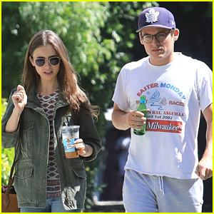 Lily Collins Meets Up With Kevin Zegers For Coffee in LA