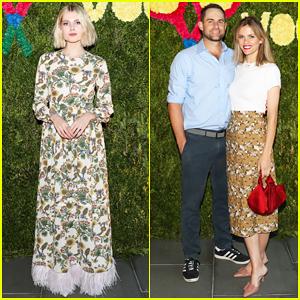 Lucy Boynton & 'Vogue' Host Tennis Match & Dinner with Andy Roddick & Brooklyn Decker!