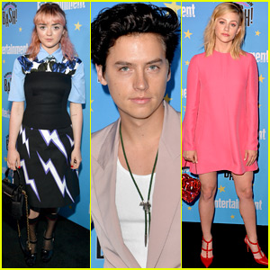 Game of Thrones' Maisie Williams Joins Riverdale's Cole Sprouse & Lili Reinhart at EW's Comic-Con Bash!
