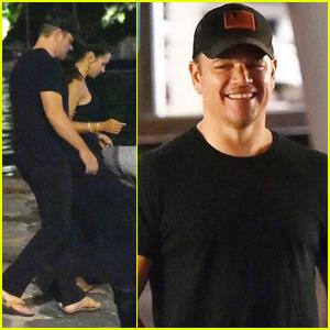 Matt Damon & Wife Luciana Board a Boat on Romantic Night Out in Italy!
