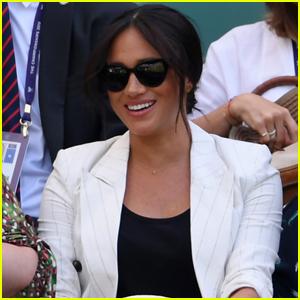 Meghan Markle Cheers On Pal Serena Williams at Wimbledon 2019!