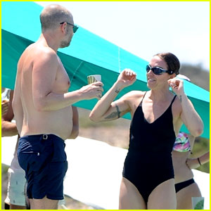 Melanie C Shows Off Swimsuit Bod With Joe Marshall in Ibiza
