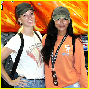 Naya Rivera & Heather Morris Reunite at Monster Jam 2019!
