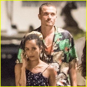Newlyweds Zoe Kravitz & Karl Glusman Step Out for Dinner in Italy!