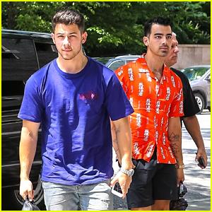 Nick & Joe Jonas Brave the N.Y. Heatwave, Get Lunch Together