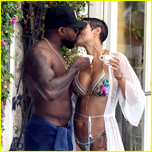 Nicole Murphy & Director Antoine Fuqua Spotted Kissing at the Pool in Italy