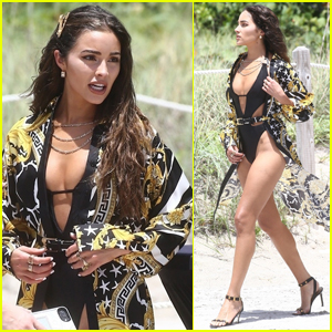 Olivia Culpo Dons Sexy Bathing Suit for Beach Photo Shoot!