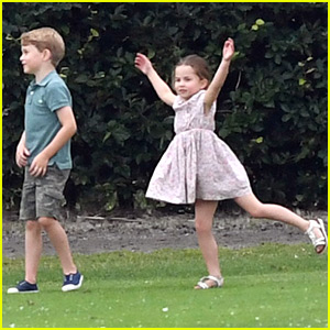 Prince George & Princess Charlotte Play While Dad Prince William Competes in Polo Match!