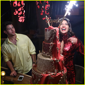 Priyanka Chopra Rocks 'Red Dress' to Celebrate Her Birthday With Nick Jonas