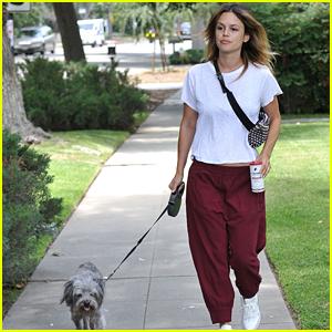 Rachel Bilson Keeps Comfy in Sweats While Walking Her Dog
