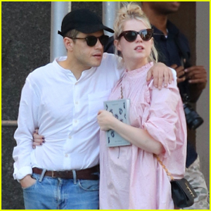 Rami Malek & Lucy Boynton Keep Close While Out in NYC