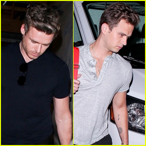 Richard Madden & Brandon Flynn Step Out for Dinner in West Hollywood